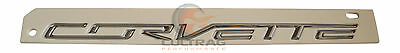 2014-2019 C7 Corvette Genuine GM Chrome Corvette Rear Bumper Emblem 22997787