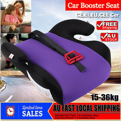 Safe Sturdy Baby Child Kid Children Car Booster Seat Red Fit 3 To 12 Years Old
