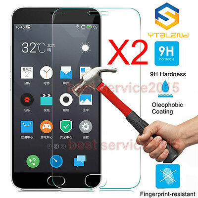 2Pcs 9H Premium Tempered Glass Screen Protector For Meizu Note 2 / M2 Note 5.5""
