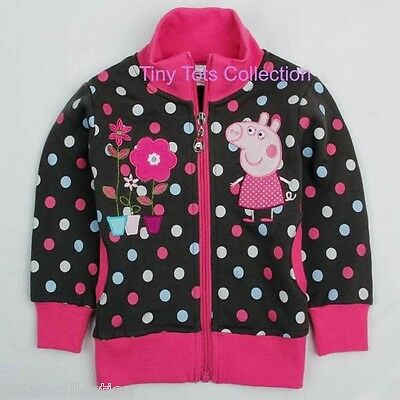 AUS Seller NEW with tag girls hoodie jumper cardigan peppa size 4