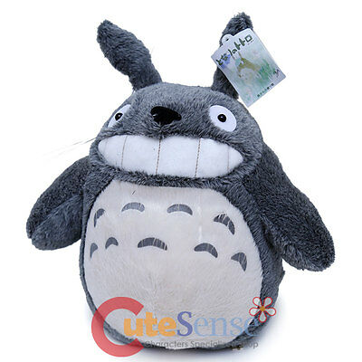 My Neighbor Totoro Plush Doll Large Soft Stuffed Dark Grey Smile Totoro  Ghibli b3bdfcf2777e