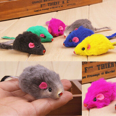 2pcs Kitten Car Play Playing Toys False Mouse in Rat For Pet Cat Funny Gift BUUA