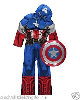 New George Marvel Captain America  fancy dress outfit dressing up costume outfit