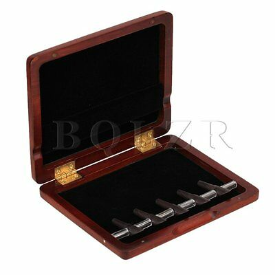 Beautiful Dark Red Nature Finish Solid Wood Bassoon Reed Case For 5 Reeds