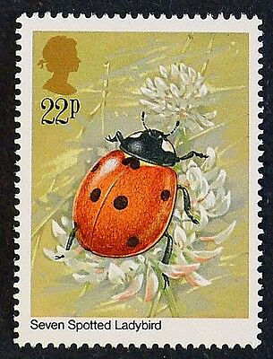Seven Spotted Ladybird illustrated on 1985 Stamp - Unmounted Mint