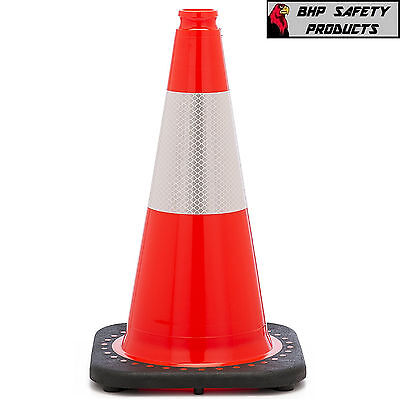 "18"" Orange Safety Traffic/parking Cone W/ 3M Reflective Collar Jbc Revolution"
