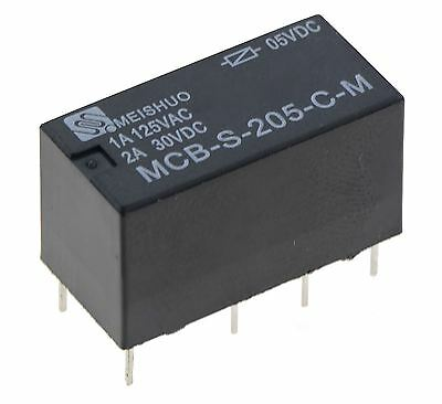 Subminiature 5V Changeover Relay 2A DPDT