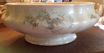 HUGE GORGEOUS ANTIQUE John Meir & Son Serving Dish with Handles 1890 or earlier