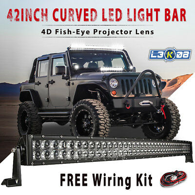 42inch 560W PHILIPS Curved LED Work Light Bar Flood Spot Offroad Truck 4x4WD 45""