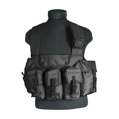 Army Us Tactical Mag Chest Rig Military Ammo Carry Range Vest 6 Pockets Black