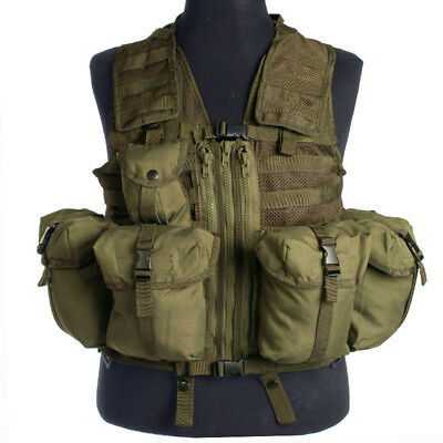 Military Modular System Army Tactical Vest Paintball Airsoft Webbing Olive Drab