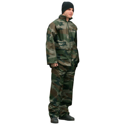 Waterproof Jacket & Trousers Rainproof Rain Mens Suit Hooded Suit Set Cce Camo
