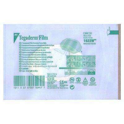 3M Tegaderm-Film 1622W 100sheet Transparent Adhesive Wound Care Water Proof