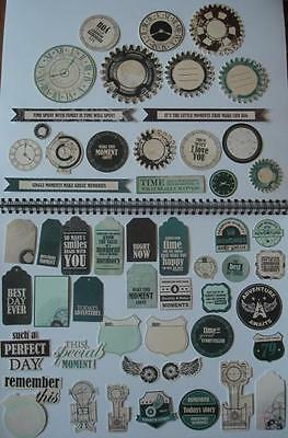 ~ Time Machine ~ COLLECTABLES 50+ Die Cut Shapes Scrapbook Cardmaking Steampunk