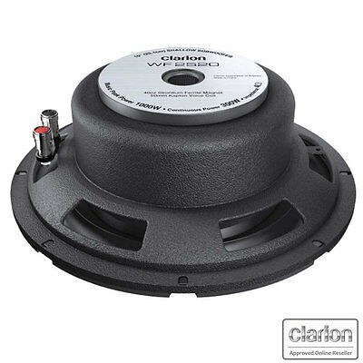 "Clarion Wf2520 1000W Slim Line Series 10"" Car Audio Subwoofer Thin Sub Shallow"