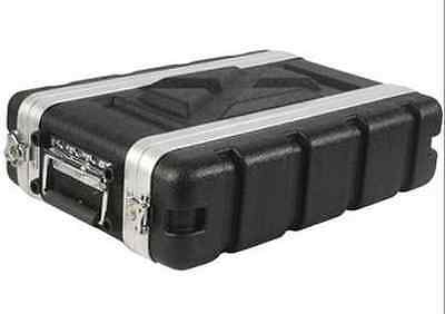 "Rack Case 2U Space SHALLOW 8 Inch Deep shell, Light Weight ABS 19"" Std w Screws"