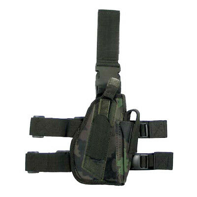 Tactical Leg Holster Mag Pouch Right Handed Airsoft Army Czech Woodland Camo