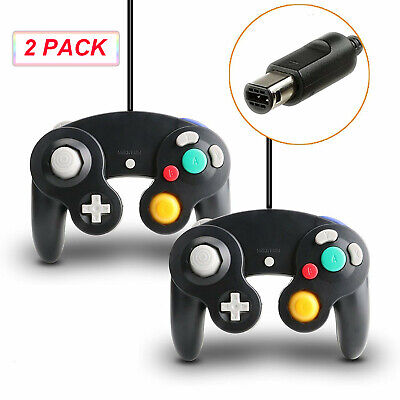 2 Pack Wired Controller Classic Gamepad Joystick For GameCube NGC Console