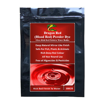 HYDRA DRAGON RED POWDER DYE (RICH RED) Decor Garden Koi Pond, Fountain & Lake