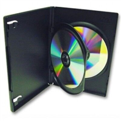 10 STANDARD Black Double DVD Cases with Inner Flap