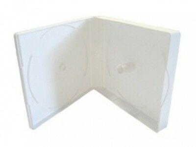 10 White Color CD/DVD Box up to 16 Discs