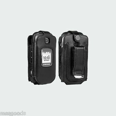 Samsung Gusto 2 Original Verizon Fitted Leather Case with Swivel Belt Clip