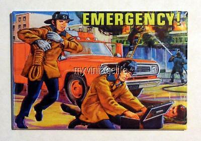 "Vintage TV Show EMERGENCY Lunchbox 2"" x 3"" Fridge MAGNET"