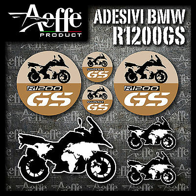 "KIT STICKERS / ADESIVI BMW R 1200 GS   ""modello 3"",  ADVENTURE WORLD"