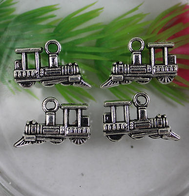 wholesale 15/60/200pcs Retro Style Steam trains alloy Charms Pendants 19x12mm
