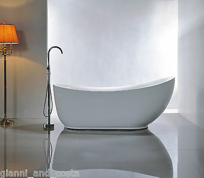 Bathroom Acrylic Free Standing Bath Tub 1800 x 890 x 760 - FREESTANDING