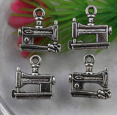 Lot 30/100pcs Retro style lovely sewing machine alloy charms Pendants 15x15mm