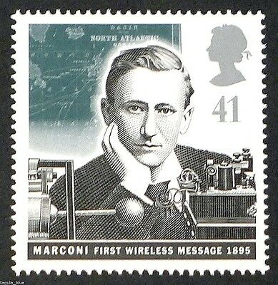 Guglielmo Marconi and Early Wireless illustrated on 1995 stamp - U/M
