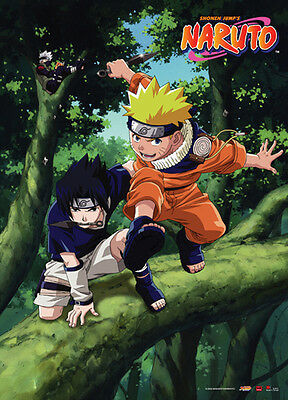 Naruto and Sasuke Wall Scroll