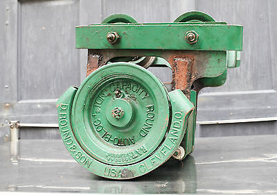 Antique David Round Company 1/2 ton Chain Hoist A-4 20 Long Chain 180421