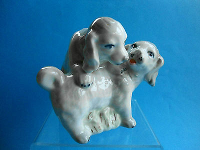 Vintage Spaniel Playful Puppy Dogs - Perfect