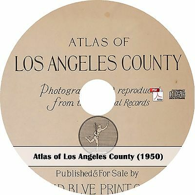 1950 Atlas of Los Angeles County - Maps Book on CD