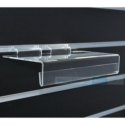 10 x Shoe Shelf Plastic with Sign Holder for Slat wall