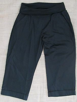 Maternity Black 3 4 Length Pants Crop Capris Bottoms Casual Size 10 12 14 NEW
