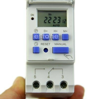 Digital LCD Programmable Timer AC 220V 16A Time Relay Switch HOT