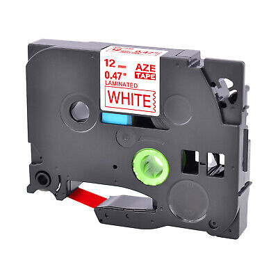 1PK 12mm Red on White Label Tape TZ TZe-232 For Brother P-touch printer 0.47''