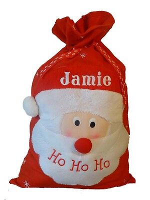 Personalised embroidered Deluxe large Santa Sack, Christmas gift sack, Xmas Sack
