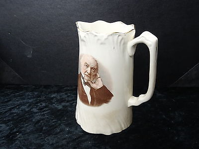 C1890's China Water Jug (15cm High) with Transfer Print of Gladstone.