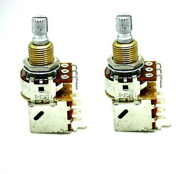 2x BOURNS AUDIO A500K 500K PUSH/PULL CONTROL TONE POT SHORT SHAFT
