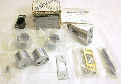 Baldwin 8015.264 Auxiliary Deadbolt Double Cylinder SATIN NICKEL NEW!!
