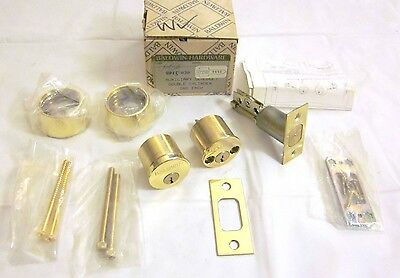 Baldwin 8015.030 Auxiliary Deadbolt Double Cylinder POLISHED BRASS NEW!!