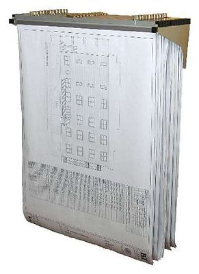 Adir Drop Lift Wall Rack for Blueprints Plans  with 12  File Hanging Clamps 616