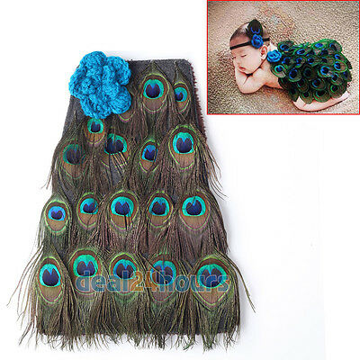 Newborn Baby Girls Boys Peacock Crochet Knit Costume Photo Photography Outfit