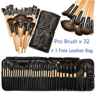 Pro Makeup 32pcs Brushes Set Eyeshadow Eyeliner Lip Brush Powder Foundation Tool