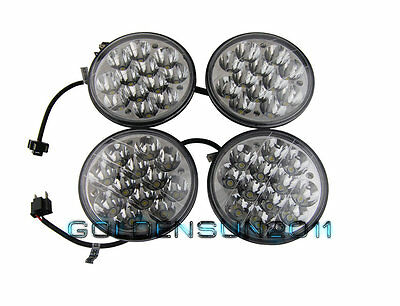 "2X HID LED Cree Light Bulbs 5-3//4/"" Headlight Crystal Clear Sealed Beam Headlamp"