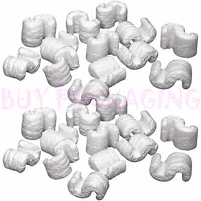 30 Cubic Ft of White Packing Peanuts Loose Fill Box Filler S Shape OFFER